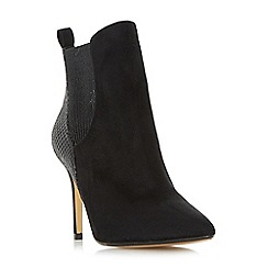 Head Over Heels by Dune - Black 'Ossana' pointed toe heeled chelsea boots