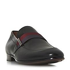 Dune - Black 'Picasso' contrast strap loafer