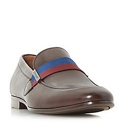 Dune - Brown 'Picasso' contrast strap loafer