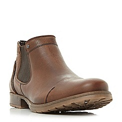 Dune - Brown 'Chesney' toecap distressed chelsea boots