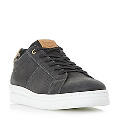 Dune - Black 'Trackstar' wedge sole trainers