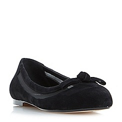 Dune - Black 'Bleame' bow detail pointed toe flat shoes