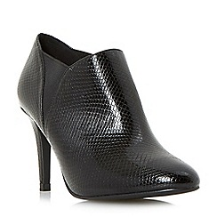 Head Over Heels by Dune - Black 'Ollivio' reptile effect stiletto shoe boots