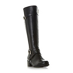 Roberto Vianni - Black 'Tuscany' buckle strap knee high boots