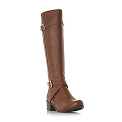 Roberto Vianni - Tan 'Tuscany' buckle strap knee high boots