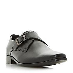Dune - Black 'Pokerface' leather monk shoes