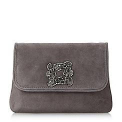 Dune - Grey 'Beston' mini brooch evening bag