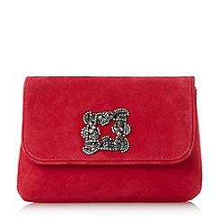 Dune - Red 'Beston' mini brooch evening bag