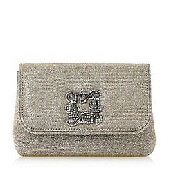 Dune - Bronze 'Beston' mini brooch evening bag