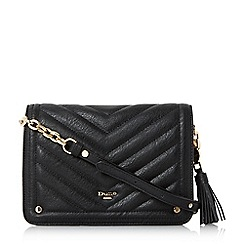 Dune - Black 'Dathy' quilted cross body bag
