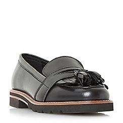 Dune - Black 'Gennaa' double tassel loafers