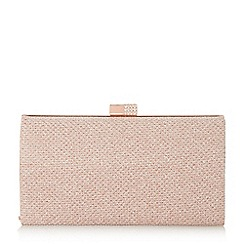 Roland Cartier - Rose gold 'Bayliss' embellished clasp clutch bag