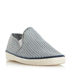 Bertie - Grey 'Fresh' mesh detail espadrille shoes