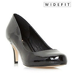 Dune - Black 'Wf amelia' wide fit round toe court shoes