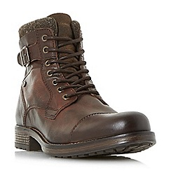Dune - Brown 'Churchill' buckled lace up casual boots