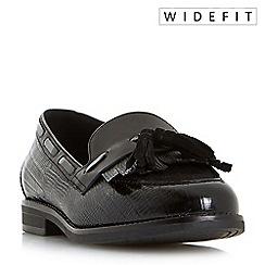 Dune - Black 'W goodness' wide fit tassel trim loafers