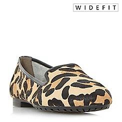 Dune - Multicoloured 'W geneveve' wide fit toecap detail slipper cut shoes
