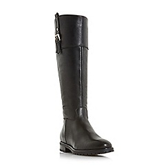 Dune - Black leather 'vine' knee high boots