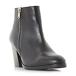 Dune - Black 'Powars' side zip ankle boots
