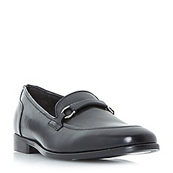 Bertie - Black 'Parrticles' metal trim loafers