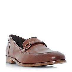 Bertie - Tan 'Parrticles' metal trim loafers