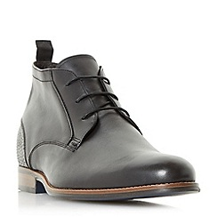 Bertie - Black 'Magneto' leather lace-up chukka boots