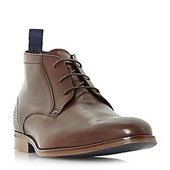 Bertie - Brown 'Magneto' leather lace-up chukka boots