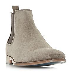 Bertie - Grey 'Molecule' round toe chelsea boots