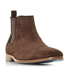 Bertie - Dark brown 'Molecule' round toe chelsea boots