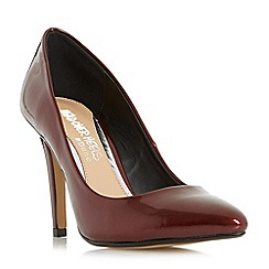 Head Over Heels by Dune - Maroon 'Alice' pointed toe court shoes