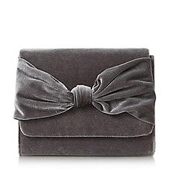 Head Over Heels by Dune - Grey 'Bernette' knot detail clutch bag