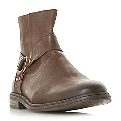 Dune - Brown 'Critter' casual gaucho ankle boots