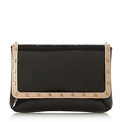 Dune - Black 'Borriss' studded clutch bag