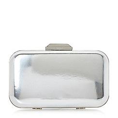 Dune - Silver 'Beverlie' hard case box clutch bag