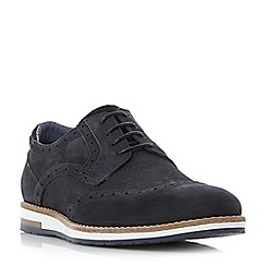 Bertie - Navy 'Baker hill' wedge sole brogue shoes