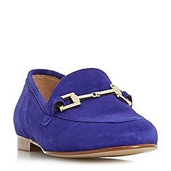 Dune - Purple 'Guru' metal saddle trim loafers shoes