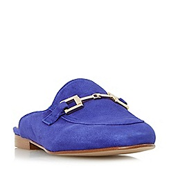 Dune - Purple 'Gole' metal saddle trim backless loafers shoes