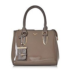 Dune - Taupe 'Denvie' top handle tote bag