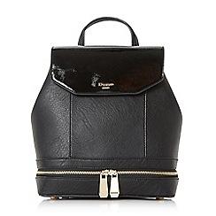 Dune - Black 'Drome' double zip backpack
