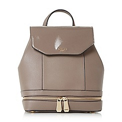 Dune - Taupe 'Drome' double zip backpack