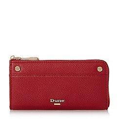 Dune - Red 'Kallaura' slim zip around purse
