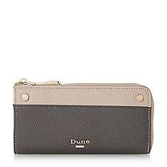 Dune - Grey 'Kallaura' slim zip around purse