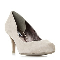 Dune - Taupe 'amelia' mid heel court shoes