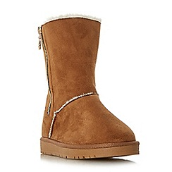 Head Over Heels by Dune - Tan 'Ricki' cosy lined calf snow boots