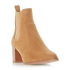 Head Over Heels by Dune - Tan 'pagey' point toe chelsea ankle boots