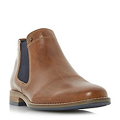 Dune - Tan 'Chicago' plain toe chelsea boots