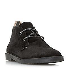 Bertie - Black 'Castle' lace up desert boots