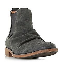Bertie - Black 'Cobalt' distressed ruched chelsea boots