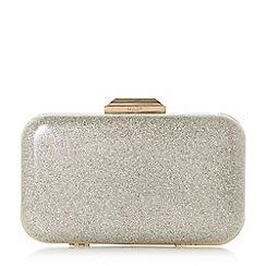 Dune - Gold 'Beverlie' hard case box clutch bag