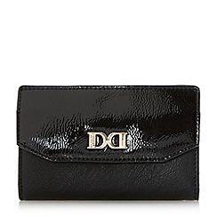 Dune - Black 'Kennie' smart foldover purse